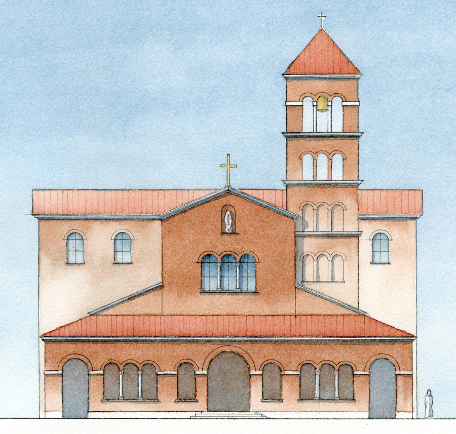Sample Front Elevation Church : The chapel of virgin mary mount carmel